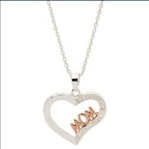 NEW 💝 Boxed Mom Heart Cubic Zirconia Necklace